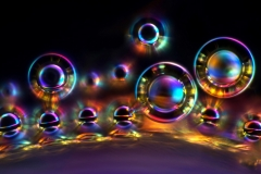 13. Pęcherzyki powietrza w krystalizującym miodzie / Air bubbles in crystalizing honey